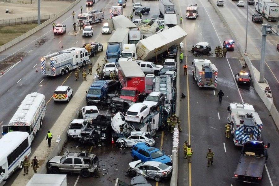 Choque múltiple en Texas: al menos 5 muertos y decenas de heridos