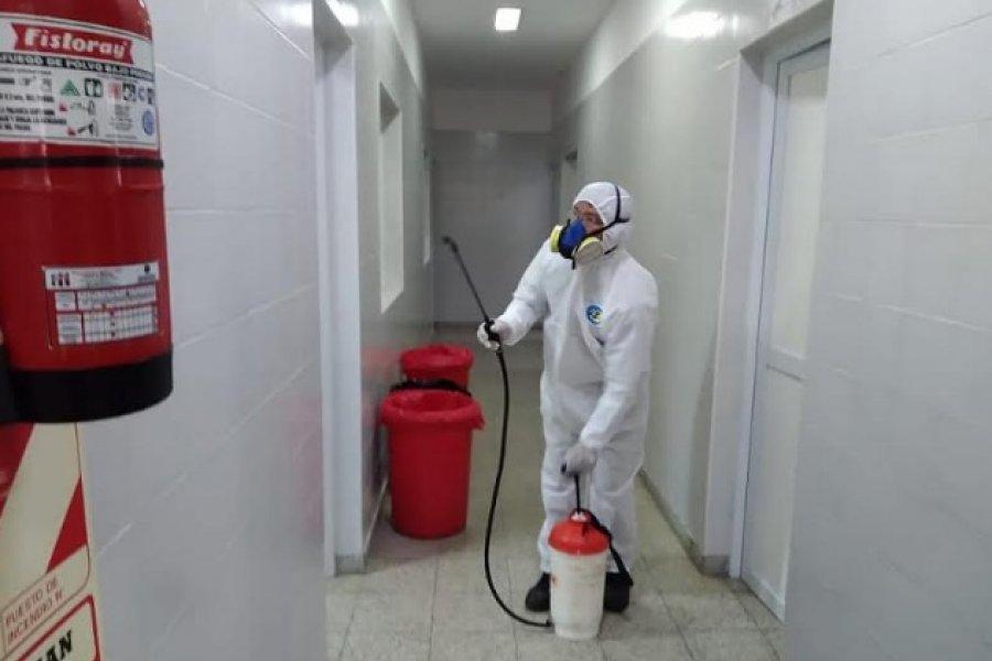 Trabajos de desinfección en Bella Vista