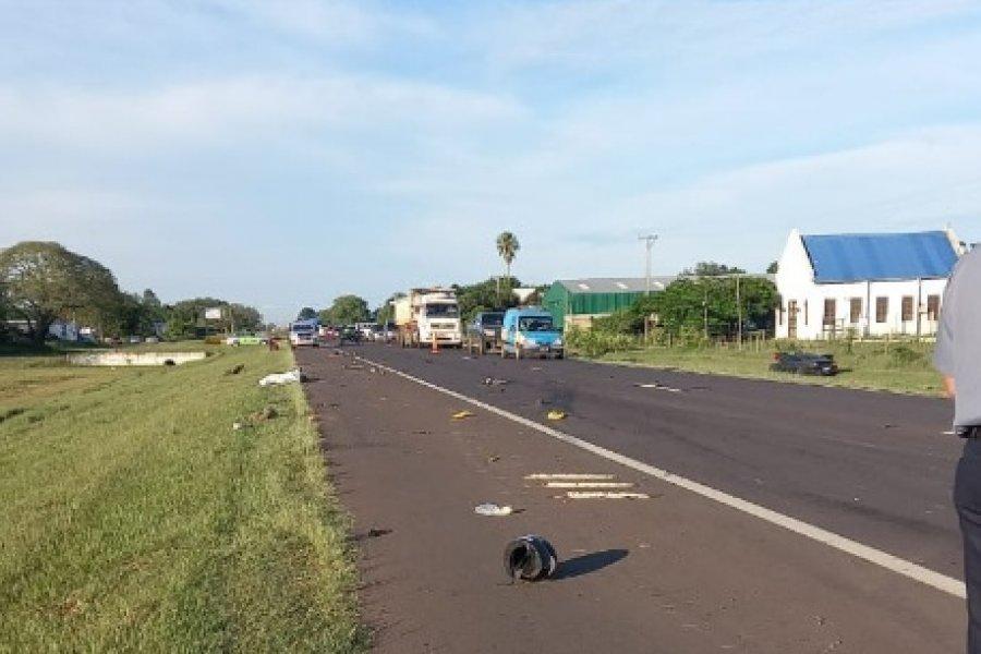 Corrientes: Dos motociclistas murieron tras ser embestidos por un auto en Ruta 12
