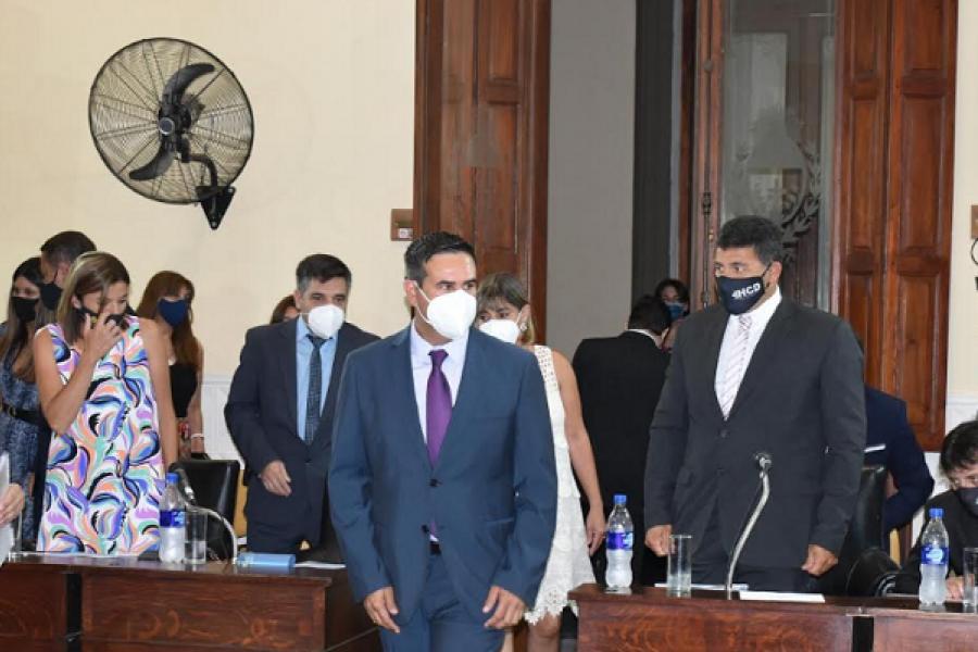 Irigoyen dejó inaugurado el período de sesiones ordinarias del HCD para el 2021