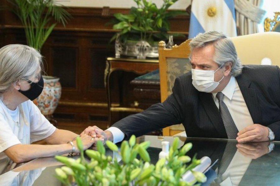 Alberto Fernández se reunió con los padres de Úrsula
