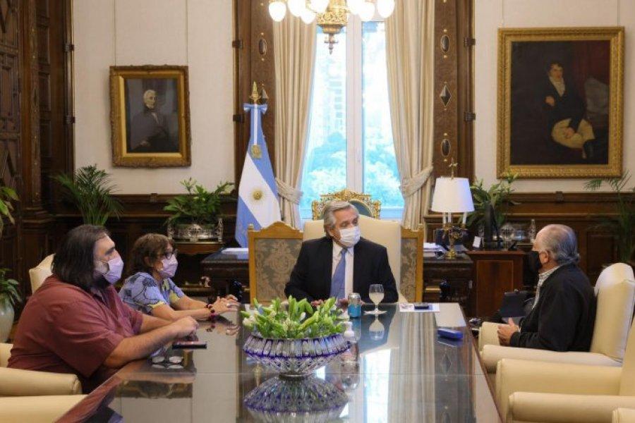En la previa a la paritaria nacional, Alberto Fernández recibió a gremios docentes