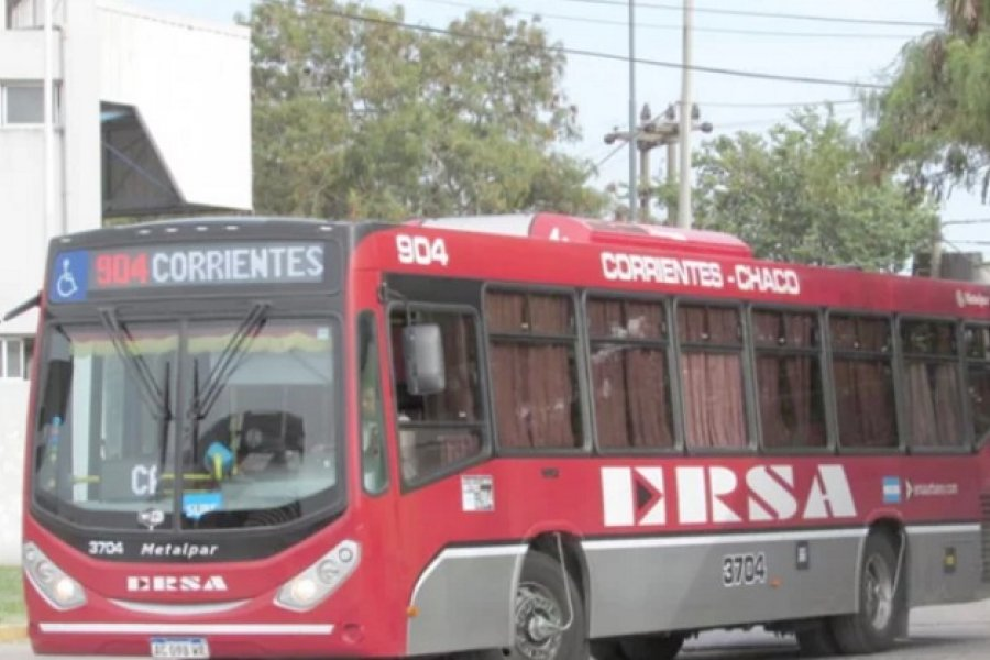 Chaco-Corrientes: Volverá el servicio de colectivos este lunes sólo para esenciales
