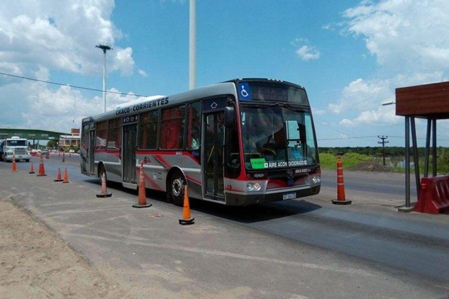 Se reanudó el servicio de colectivos Chaco-Corrientes