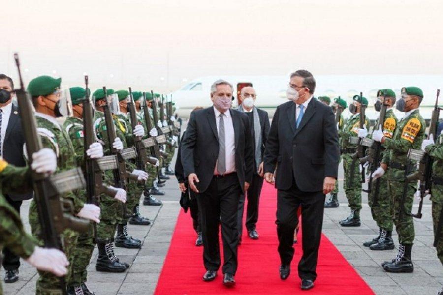 Alberto Fernández llegó a México: la agenda del Presidente