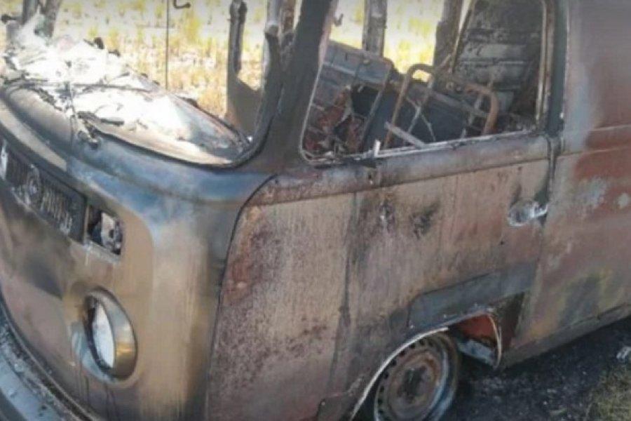 Se incendió una combi sobre Ruta 119