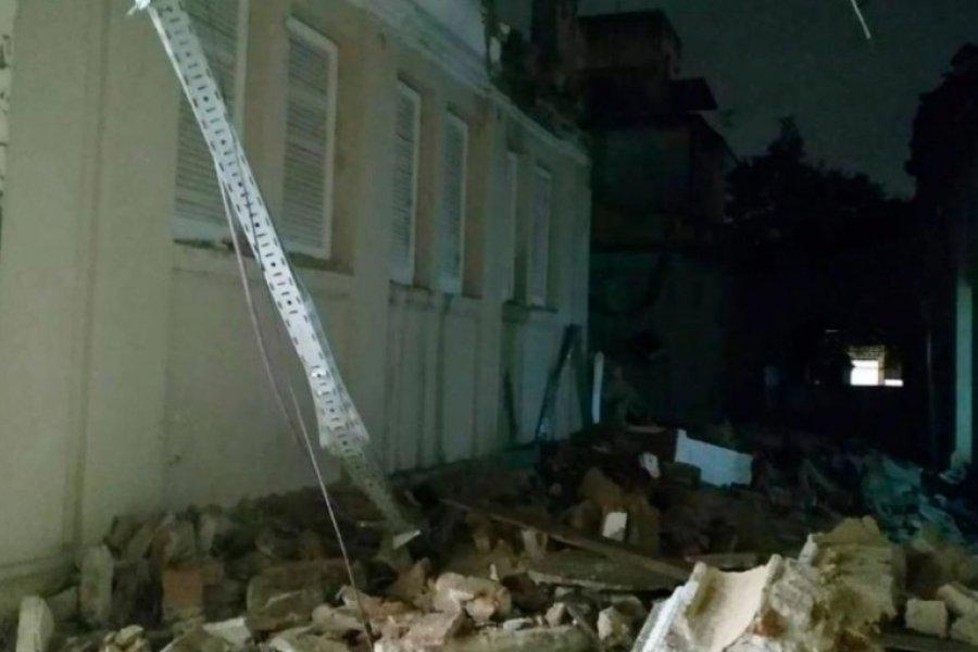 Graves daños materiales tras el derrumbe de un Hospital de Córdoba