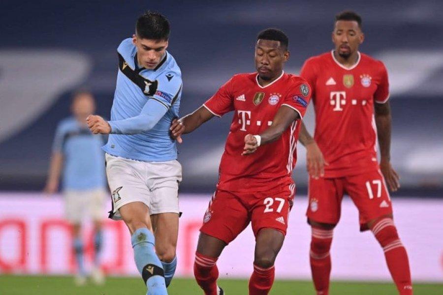 A pesar del descuento de Correa, Bayern goleó y se floreó ante Lazio