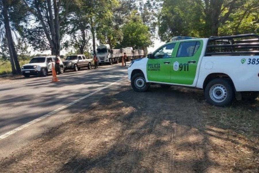 Fuerte operativo policial en Yapeyú por la llegada del Presidente