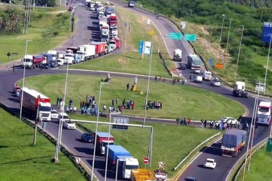 Inconvenientes en el Puente General Belgrano por una protesta del lado chaqueño