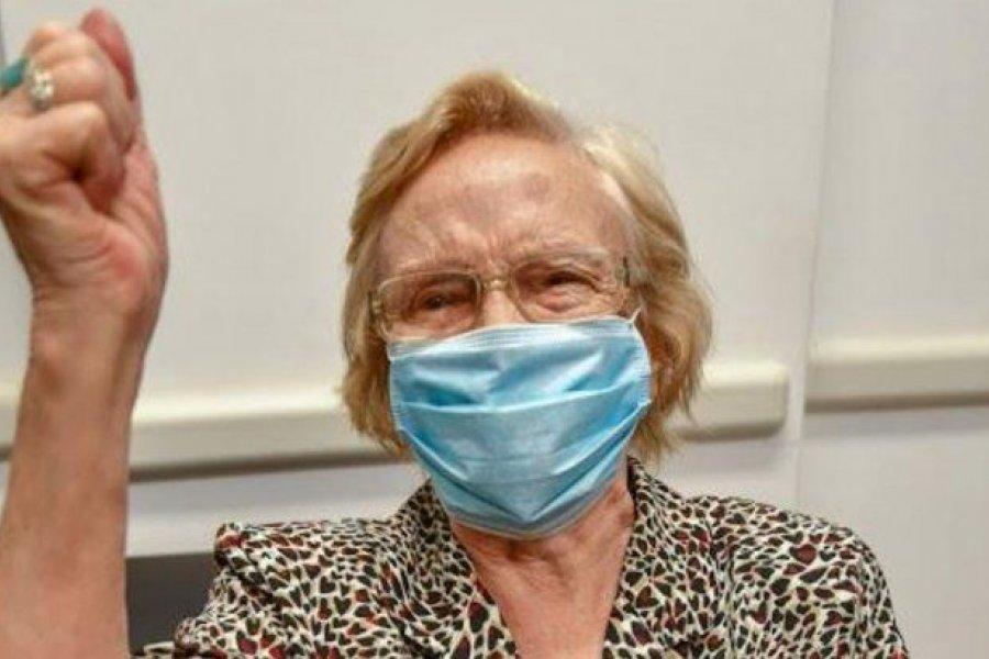 Una abuela de 90 años se convirtió en la persona un millón en ser vacunada en la Argentina