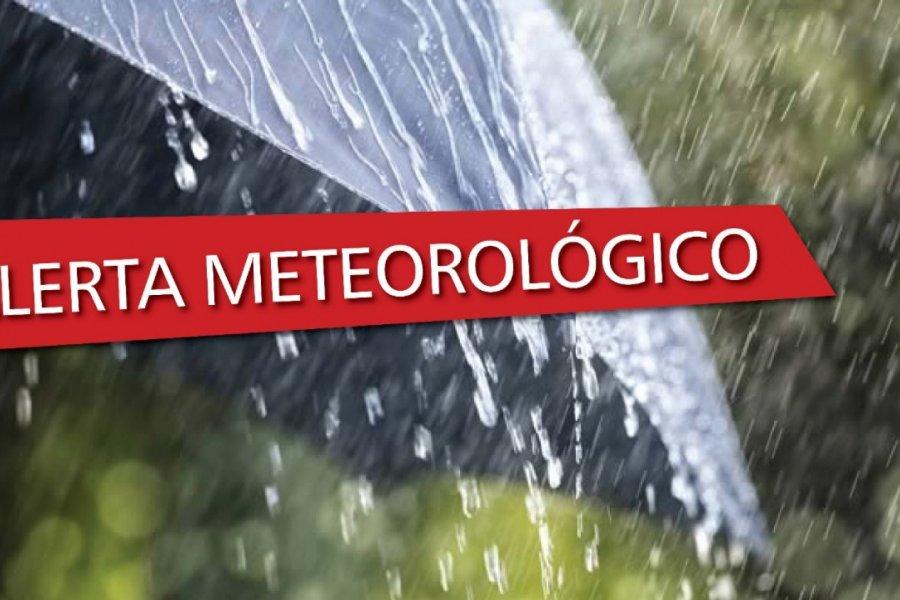 El interior de Corrientes bajo alerta meteorológico por tormentas fuertes
