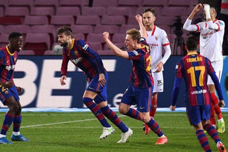 Barcelona golea a Sevilla y por ahora se mete en la final