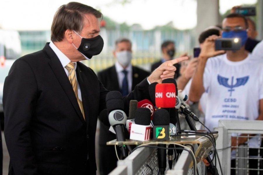 """Jair Bolsonaro: """"No se puede vivir con pánico"""""""