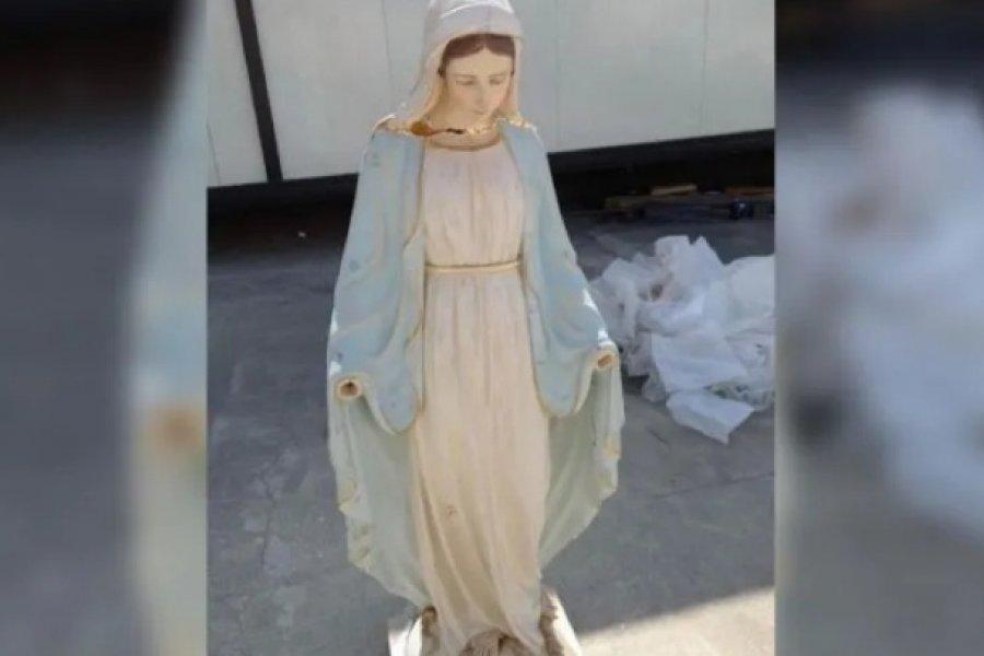 La historia de la Virgen sin manos que acompaña al Papa en Irak