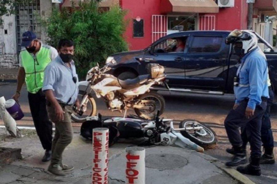 Capital: Chocó a inspector de tránsito y se dio a la fuga