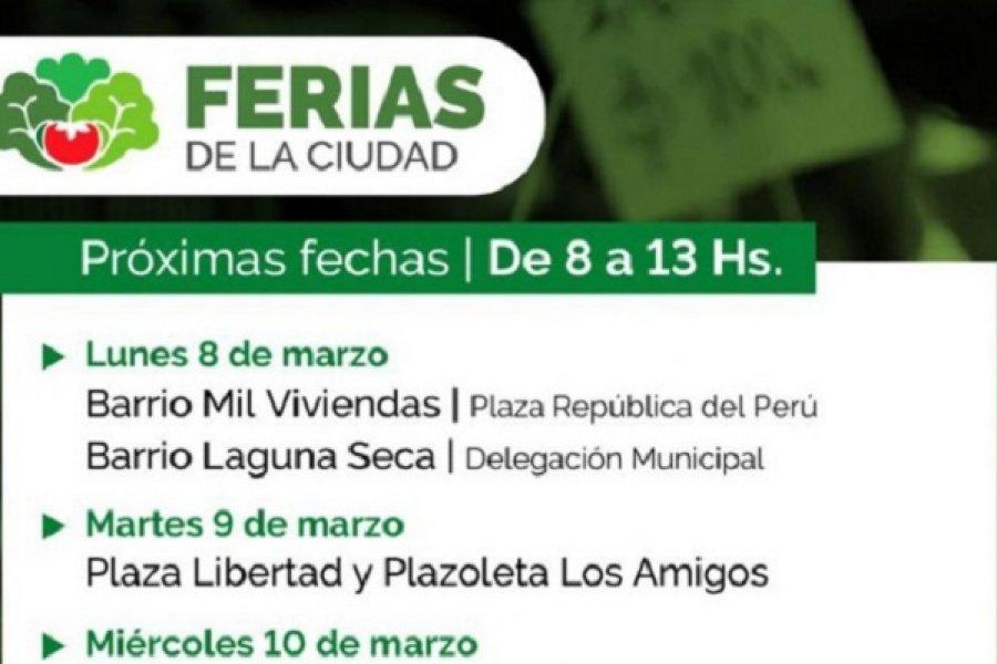 Las Ferias de la Ciudad recorrerán los barrios y plazas céntricas