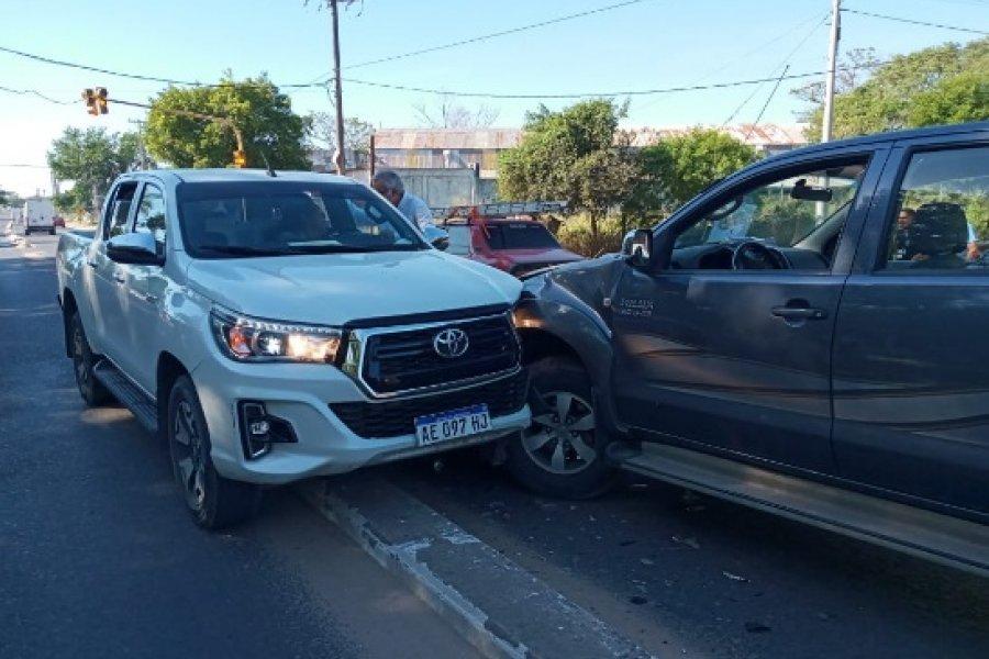 El ministro de Salud Cardozo se descompensó y protagonizó un accidente en avenida Maipú