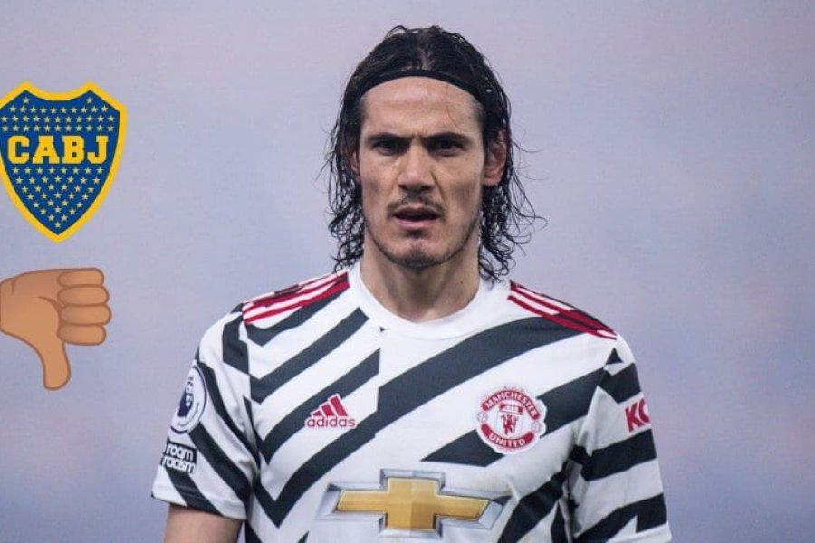 Cavani, cada vez más lejos de Boca: a punto de renovar con Manchester United