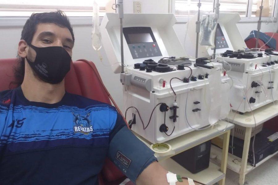 Remeros donaron plasma convaleciente