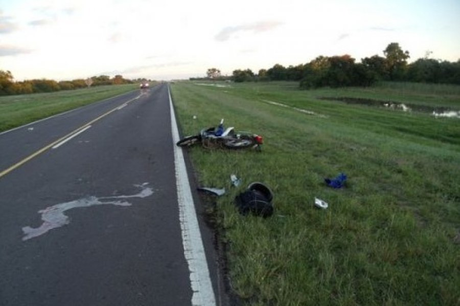 Dos motociclistas fallecieron en un siniestro vial en la Ruta 123