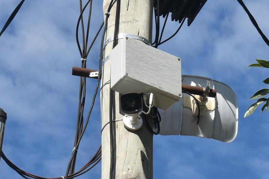 Instalaron una cámara de seguridad en la Plazoleta Rincón de luz