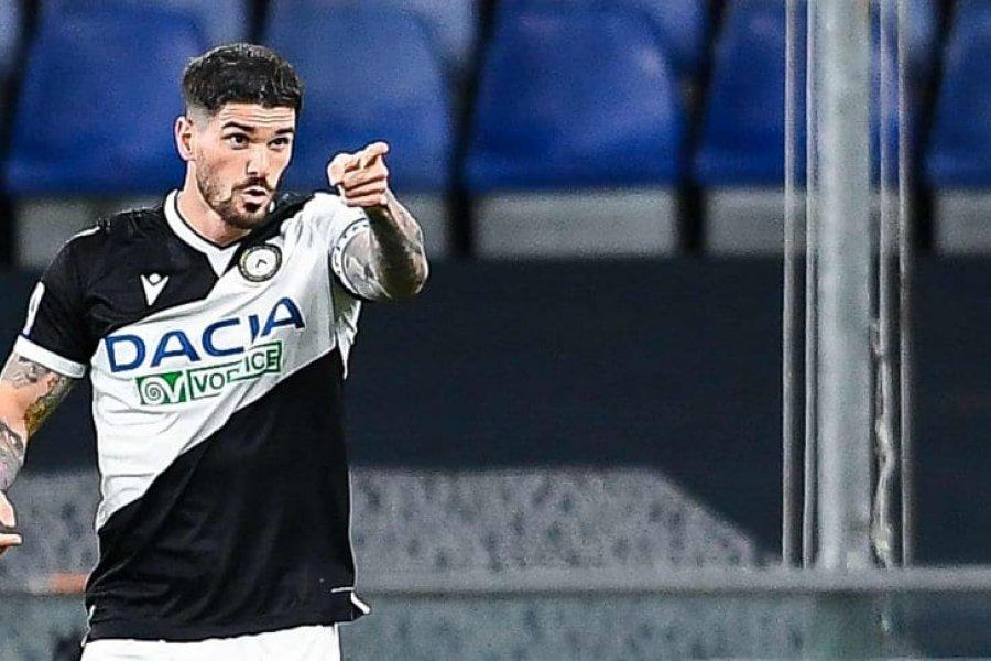 De Paul la metió de penal y Udinese empató con Genoa