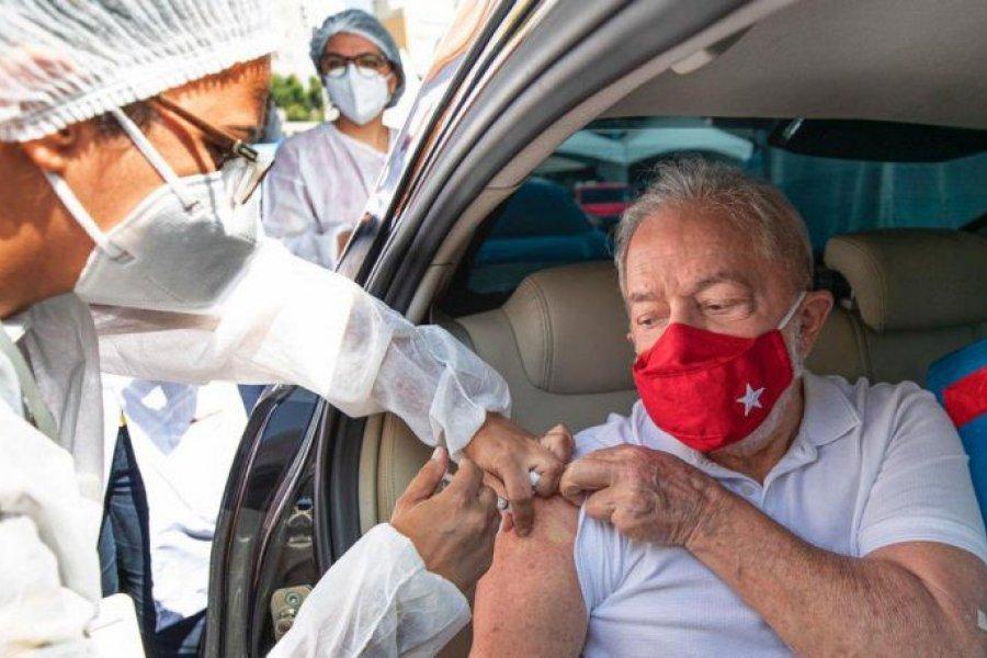 Lula da Silva se vacunó en San Pablo contra el Covid-19