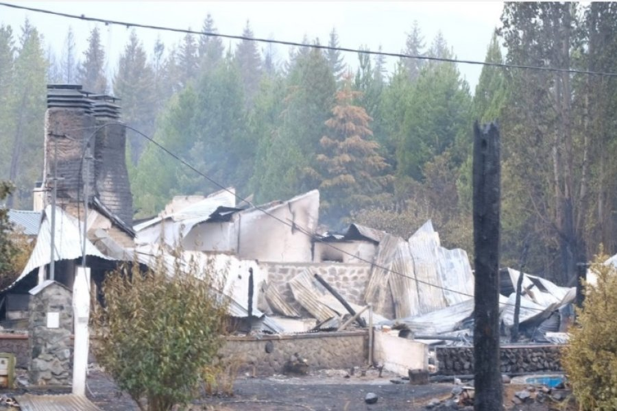 Otra víctima fatal de los incendios en Chubut