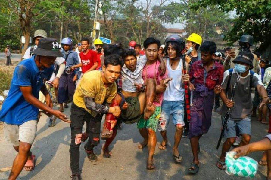 Myanmar: sangrienta represión de la dictadura dejó al menos 16 muertos