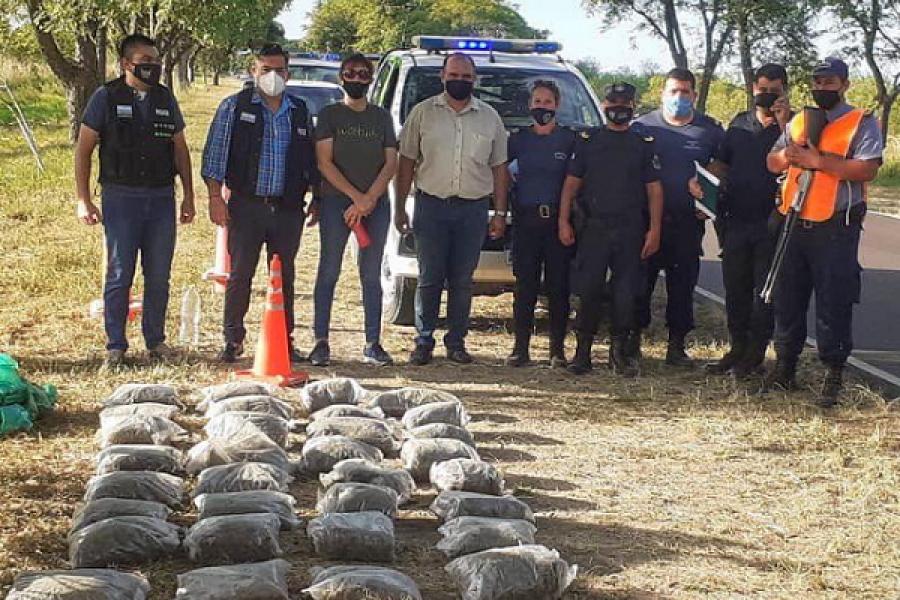 Itatí: La Policía secuestró más de 50 kilos de marihuana