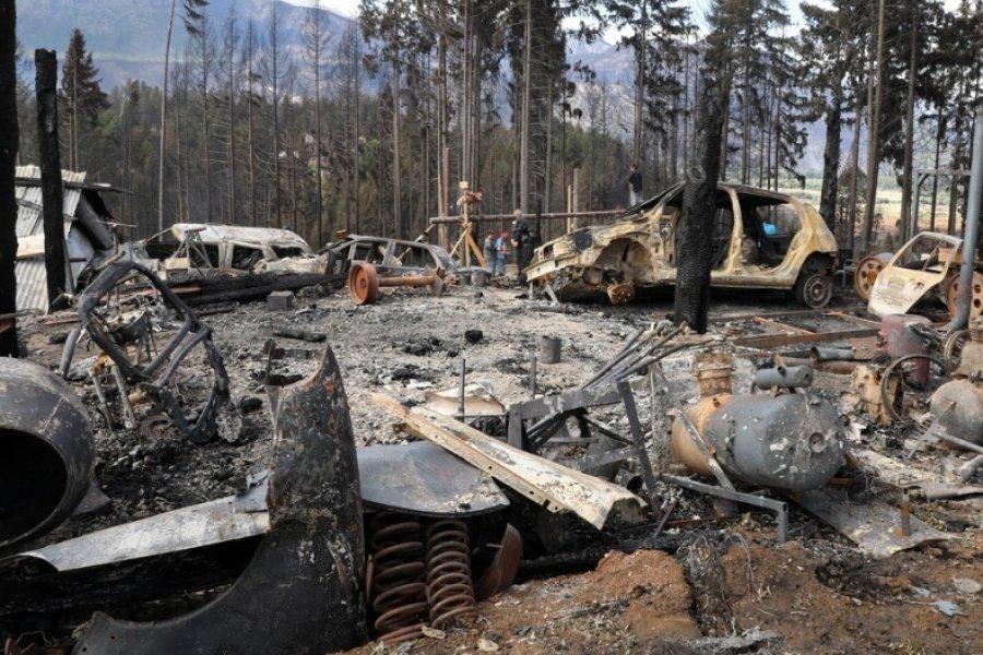 """Incendios en Chubut: """"El fuego vino de golpe, ahora no tenemos nada"""""""