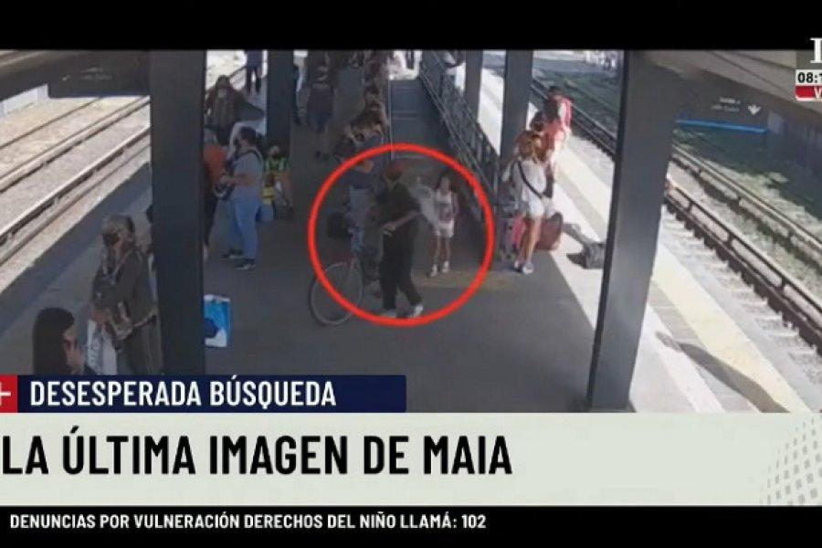 Búsqueda de Maia: Un video la muestra con el supuesto secuestrador el día de su desaparición