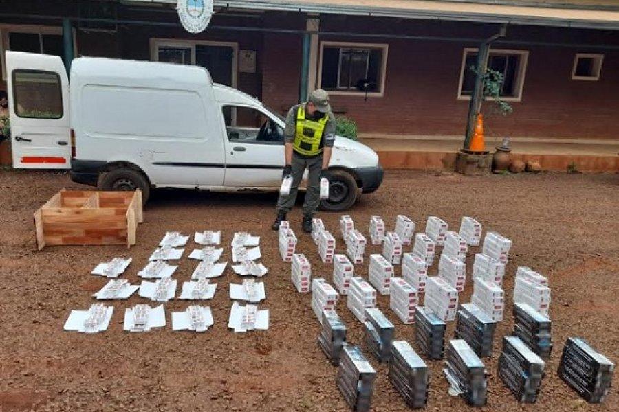 Incautan 2.000 paquetes de cigarrillos ilegales en un vehículo