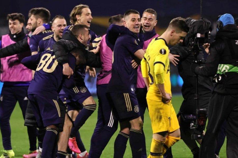 Dinamo Zagrev eliminó en el alargue al Tottenham de Mourinho