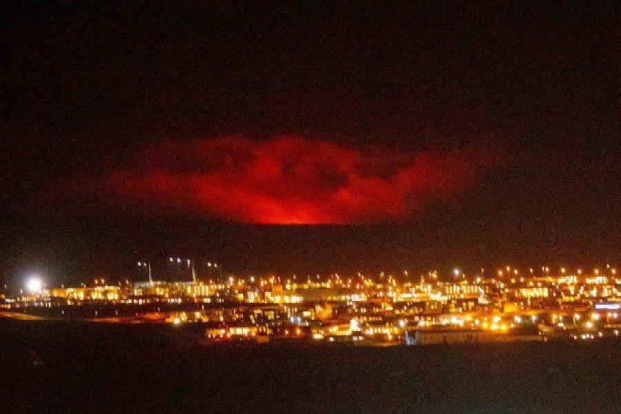 Islandia: un volcán entró en erupción volcánica cerca de la capital
