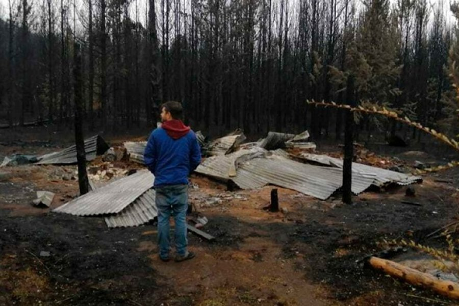 Otorgan beneficios excepcionales a la población afectada por los incendios en Chubut