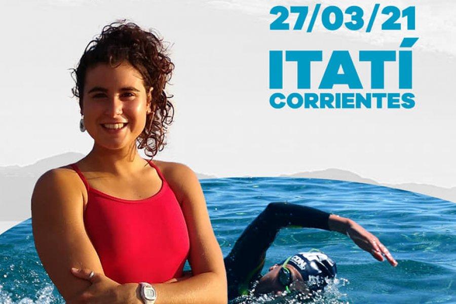 Nadadora rionegrina unirá Itatí con la ciudad de Corrientes
