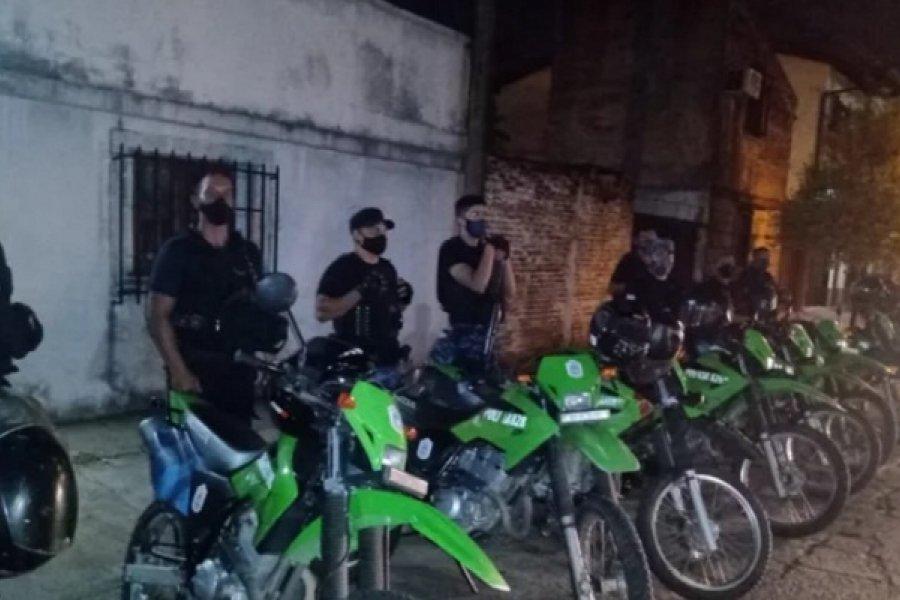 Controles policiales: Demoraron a 15 personas y secuestraron 13 motos
