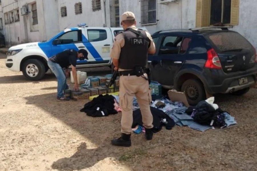 Contrabando: Detuvieron a un hombre que enviaba mercadería a Uruguay