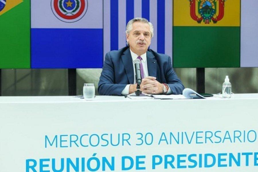 A 30 años de la creación del Mercosur, Fernández llamó a sus pares a profundizar la integración