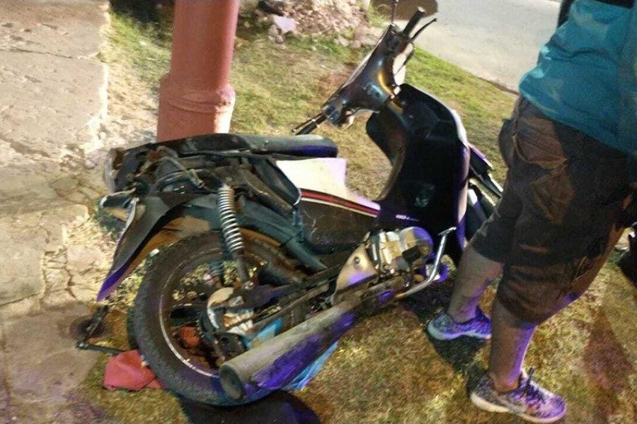 Escapaban en moto de la policía cuando embistieron y mataron a una joven embarazada