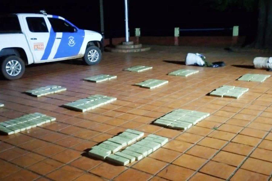 En 48 horas, la Prefectura decomisó 2.100 kilos de marihuana en Misiones