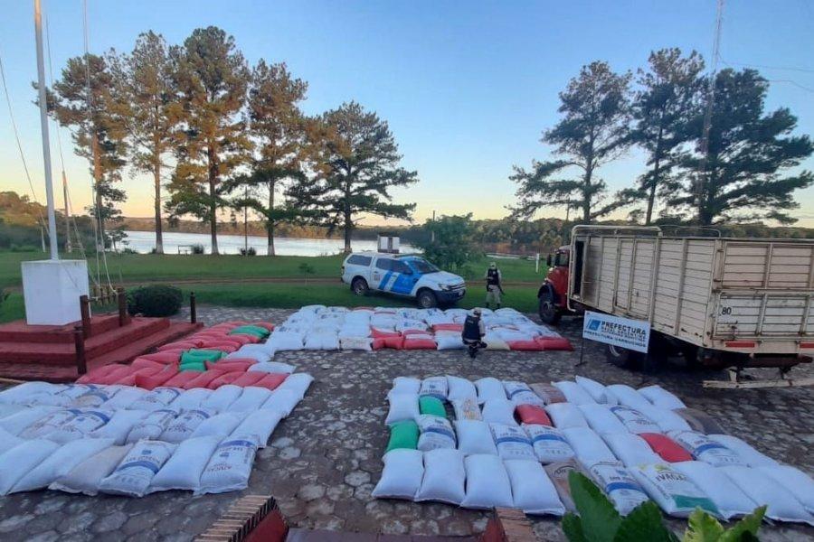 Incautaron cerca de diez toneladas de soja ilegal en Corrientes