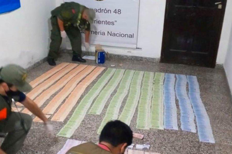 Gendarmería detuvo a un hombre con más de 1 millón de pesos