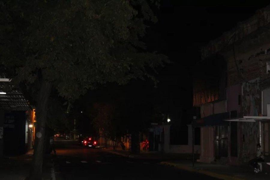 La falta de alumbrado público genera temor en los vecinos de la ciudad