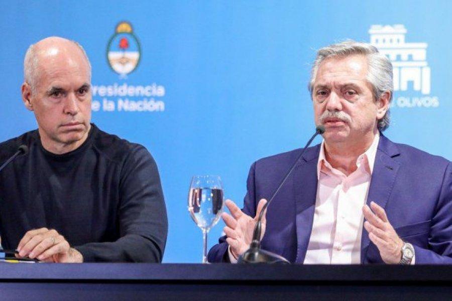 Alberto Fernández y Rodríguez Larreta compartieron la preocupación por el aumento de casos