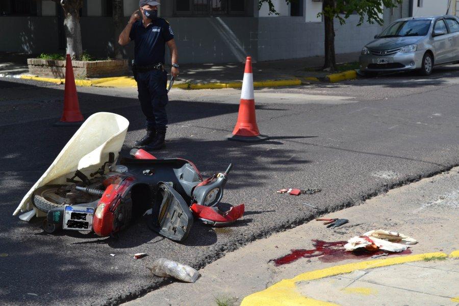 Motociclista con politraumatismo de cráneo tras un grave accidente