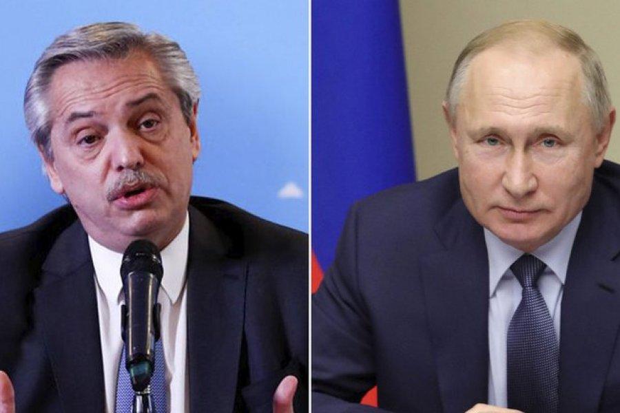 Putin llamó a Alberto Fernández para conocer su estado de salud y le garantizó la provisión de la Sputnik V