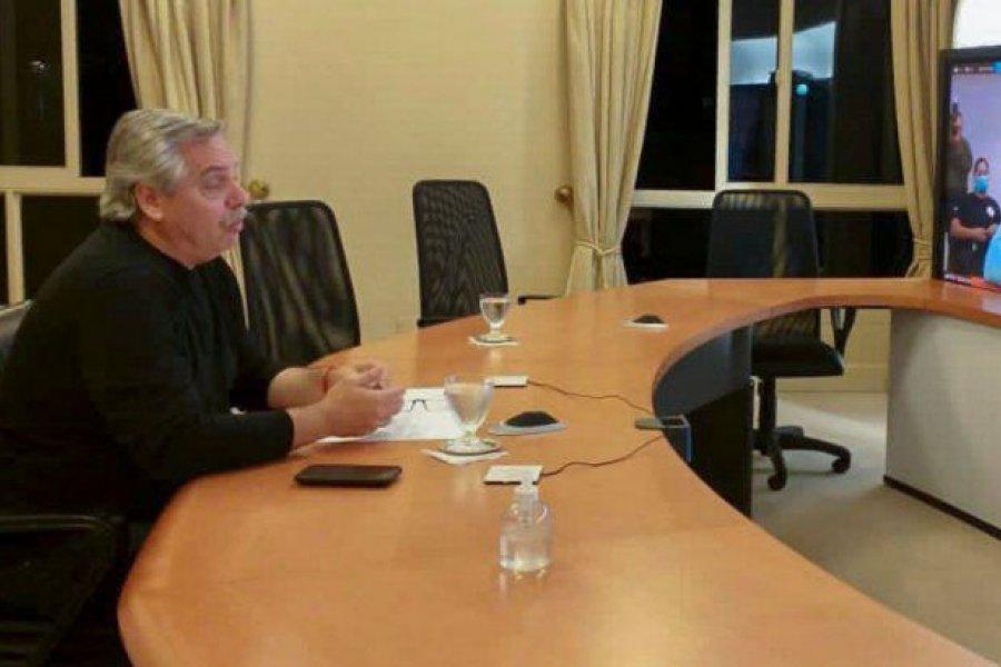 Fernández anunciará inversiones por videoconferencia con los ministros Guzmán y Kulfas